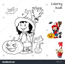 cute little witch broom pumpkin stock vector 481460113