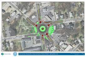 Springfield Map 2 8m Roundabout Touted To Improve Safety Ease Traffic Flow At