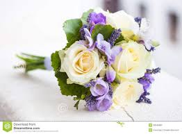 wedding flowers lavender wedding bouquet with yellow roses stock photo image 32046800