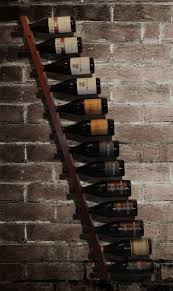 alluring horizontal wine rack ideas featuring slanted wooden