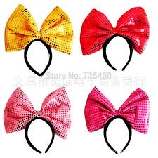 mickey ribbon children sequined bow hair band mickey mouse christmas