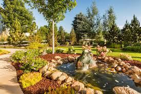 awesome garden waterfalls and ponds near garden path with stones