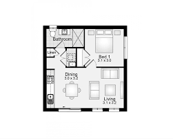 granny flat 45m2 1 bedroom clarendon homes floor plans
