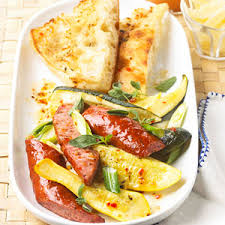Light Summer Dinners Sausage And Summer Squash