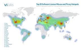 the top 20 countries for software piracy sd times