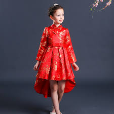 dresses to wear on new years kids birthday party dresses qipao girl tailing children