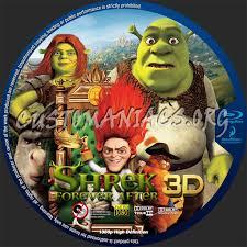 shrek 4 3d blu ray label dvd covers u0026 labels