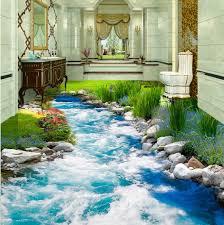 Bedroom Water Feature Free Shipping Grass Creek Water 3d Floor Tiles Bedroom Hotel