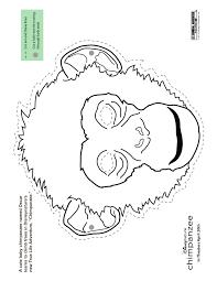 printable chimpanzee animal mask to color woo jr kids activities