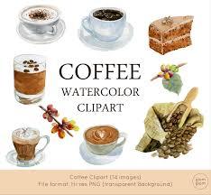 espresso coffee clipart coffee watercolor clipart latte cappuccino espresso black