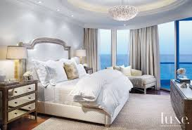 Silverleaf Interiors Contemporary White Master Bedroom With Silver Leaf Headboard