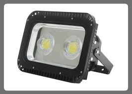led outdoor flood lighting rectangle black stained metal finish lamp with warm yellow light emergency lamp