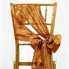 Gold Chair Sashes 5 Pcs Gold Pintuck Chair Sashes Catering Wedding Party Decorations