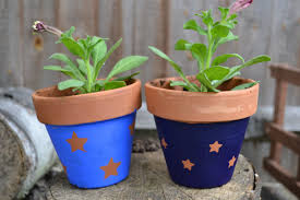 Painting Garden Pots Ideas Decoration Ideas Captivating Picture Of Black Spray Painted