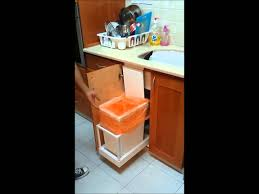 Kitchen Cabinet Trash Automatic Kitchen Trash Can Ikea Hack Youtube