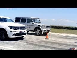 jeep grand mercedes drag race jeep grand srt8 vs mercedes g63 amg