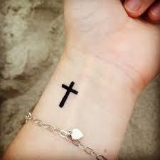 pix for small christian cross tattoos on wrist ideas