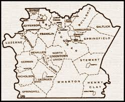 Fayette County Maps Formation Of Fayette County Fayette County Genealogical Society