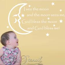 blessing baby baby prayer blessings wall lettering the simple stencil