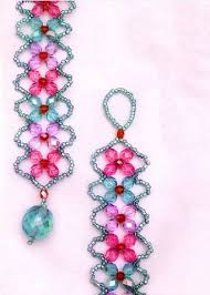 beads bracelet easy images Easy 4 petal crystal flower beaded bracelet tutorials the jpg