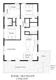 Small Beach House Plans by Small Beach Cottages Floor Plans