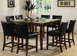 black contemporary dining room chairs table set leather sets igf