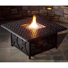 Propane Firepit Alfresco Home Ramblas Cast Aluminum Propane Pit Chat Table