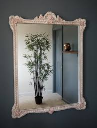 antique victorian mirror painted wooden frame with roses