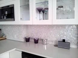 Modern White Kitchen Backsplash White Subway Tile Backsplash With Mosaic Deco Band Wooster Ohio