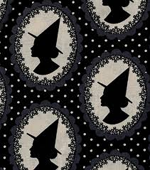 holiday inspirations halloween fabric witch silhouettes