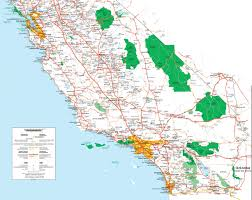 california map map of southern california