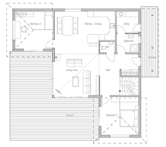 Plans For Small Houses by Very Small House Plans Small House Plan Ch18 With Floor Plans For