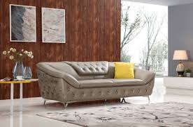Tufted Leather Sofa Set by Modern Leather Sofas And Contemporary Couches