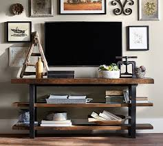 Reclaimed Wood Console Table Pottery Barn Griffin Reclaimed Wood Media Console Pottery Barn