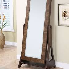 Jewelry Full Length Mirror Armoire Decorating Chic Wooden Standing Mirror Jewelry Armoire In