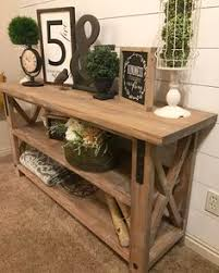 Wood Entry Table Color Scheme Never A Fan Of Useless Meaningless Items On