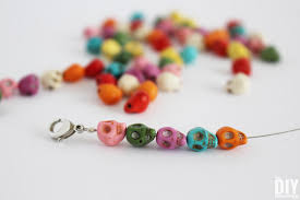 beads bracelet easy images Colorful skull bracelets easy diy jewelry tutorial jpg