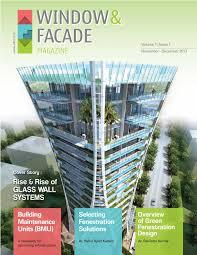 window u0026 facade magazine nov dec 2013 issue by f u0026 f media and
