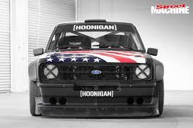 hoonigan mustang twin turbo video ken block u0027s new ford escort gymkhana beast street machine