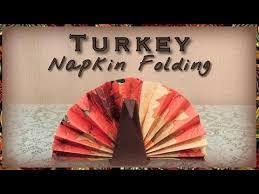 turkey napkin folding