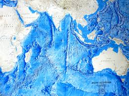 India Geography Map by Indian Ocean Map Relief Of The Oceanic Floor Cosmolearning