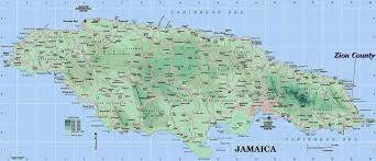 Physical Map Of North America by Maps Of Jamaica Map Library Maps Of The World