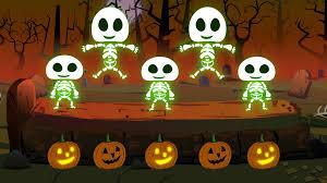 Halloween Pictures Skeletons Five Little Skeleton Happy Halloween Youtube