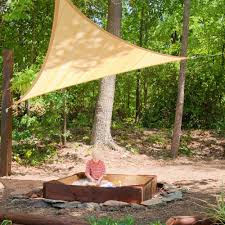 shadelogic sun shade sail heavy weight 16 foot triangle sand