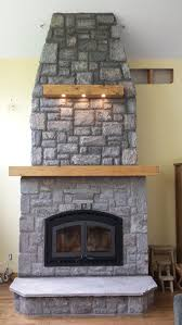 montecito estate wood burning fireplace with random rectangular