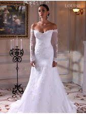 lace portrait off shoulder long sleeve wedding dresses ebay