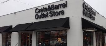 outlet stores crate and barrel