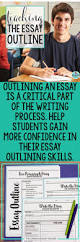 teach students how to outline their essays high writing