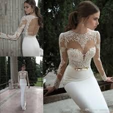 white lace mermaid wedding dresses keyhole back high neck