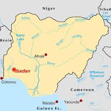 Map West Africa by Urban Sprawl Of Ibadan Into Savanna And Forest Habitat West Africa